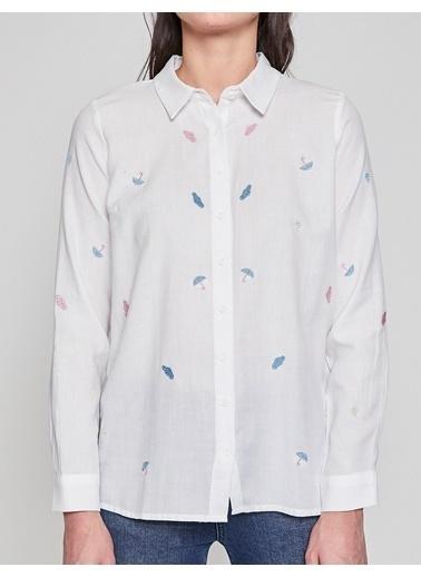 Baskılı Gömlek-Koton